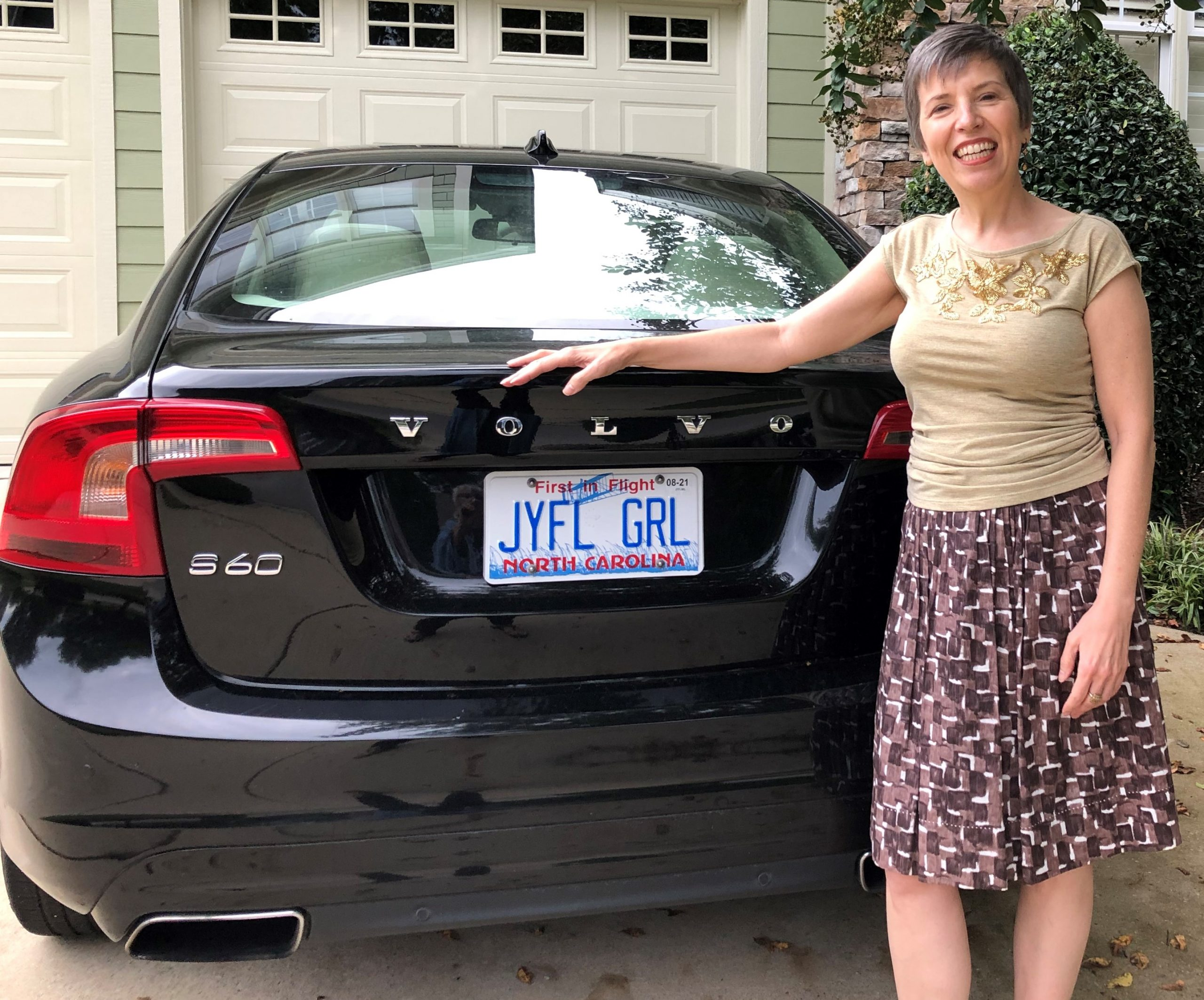 Marcy with Joyful Girl license plate